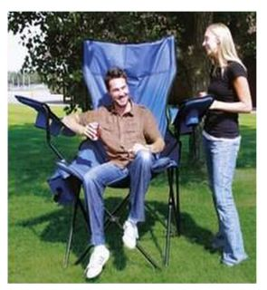 Gaint Extra Large Folding Portable Quad Chair w Cooler Carrying Bag
