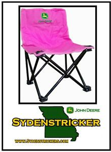 New John Deere Kids Pink Embroidered Camp Chair