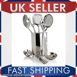 Six Piece Stainless Steel Cutlery Cooking Utensils Kitchen Tools Set