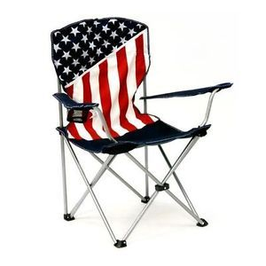 USA American Flag Folding Outdoor Camping Chair Bag Quality Rugged 600D Canvas