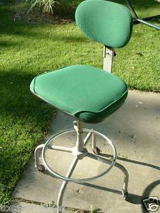 Vintage Cramer Industrial Machine Age Drafting Chair Stool Adjustable Height