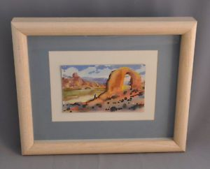 Schairer Don Watercolor Painting Rainbow Bridge Rock Arch Arizona Landscape
