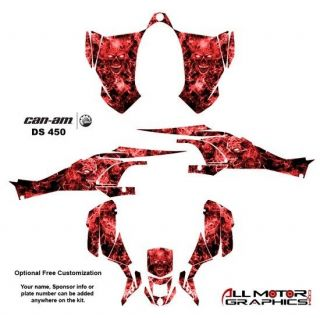 Can Am DS450 BRP Graphics Decal Sticker Kit 9500RED