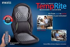 Car Chair Homedics TRC 100 Temprite Massage Cushion w Climate Control Black