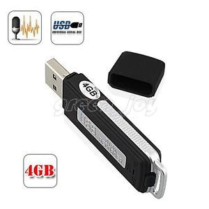New 2in1 Mini Sensitive 24hr Digital Voice Recorder USB Flash Memory Drive 4GB
