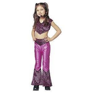 Pop Princess Pink Leopard Rock Star Cute Dress Up Halloween Child Costume