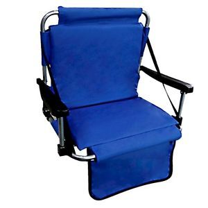 Deluxe Heavy Duty Portable Stadium Chair with Free Clear See Through Umbrella