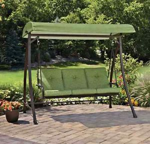 3 Person Convertible Outdoor Swing Green Home Garden Patio Furniture Poolside