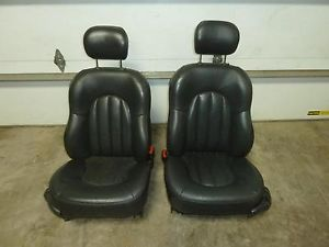 99 300M Black Leather Front Seats Power Heated Memory Seat Driver Passenger 7074
