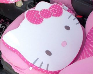 1pc Hello Kitty Face Car Seat Cushion Pillow Pad Bow Office Chair Cushion Mat