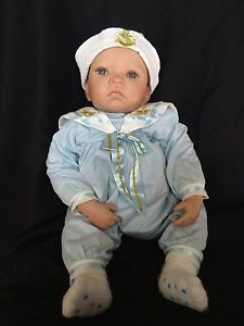 Ashton Drake Baby Boy Doll by Artist Waltraud Hanl Weighted Posable 23""