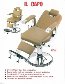New Pibbs 659 Capo Barber Chair Salon All Purpose Chair American Made