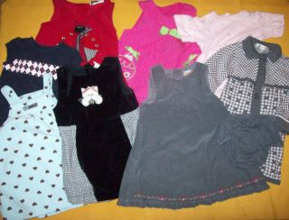 Big Lot 8 Dresses Baby Infant Girl Size 18 24 Months RARE Editions Gymboree