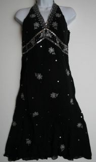 BCBG MAXAZRIA Black Silk Cocktail Dress Size 6