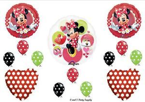 Mad About Minnie Mouse Red Happy Birthday Party Balloons Decorations Supplies