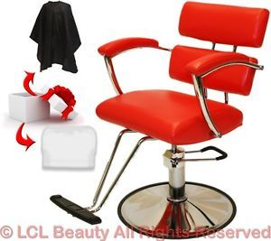 New Professional Red Hydraulic Barber Chair Styling Hair Beauty Salon Equipment