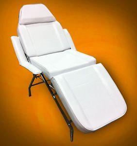 New Mtn All Purpose Multi Position Salon Spa Beauty Recline Barber Chair White