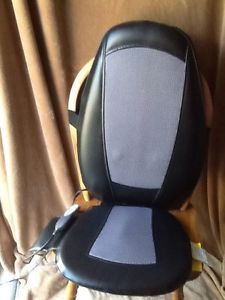 Homedics Shiatsu Heated 5 Motor Seat Cushion Full Back Massager SMB 200H