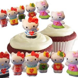 Sanrio Hello Kitty Cupcake Cake Toppers Decorations Party Favors 12 Figures