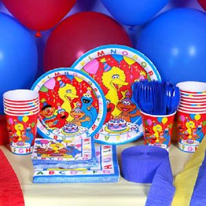 Sesame Street Elmo ABC Birthday Party Supply Choices