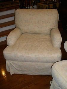 Authentic Rachel Ashwell Shabby Chic Soft Cream Comfy Slipcovered Chair