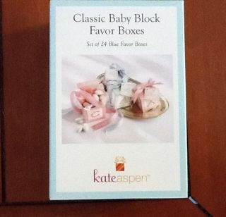 Classic Baby Block Favor Boxes Kate Aspen Set of 24 Baby Girl or Boy