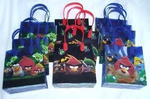 12 Pieces Angry Bird Goody Gift Bag Birthday Party Favor Supply Wholesale Lot $