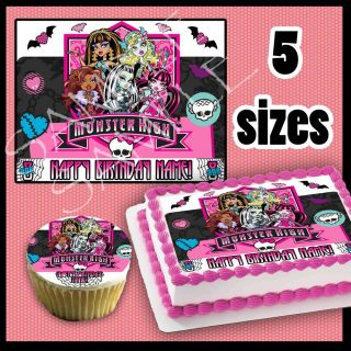 Monster High Edible Cake Cupcakes Topper Image Sheet Picture Photo Birthday