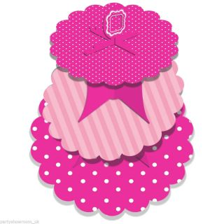 33cm Classic Pink Style Birthday Party 3 Tier Cupcake Cake Stand