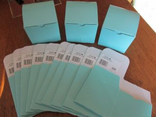 "100 Lot Teal Blue Cube Wedding Party Favor Boxes 4""x4""x4"" Baby Shower Gift Aqua"