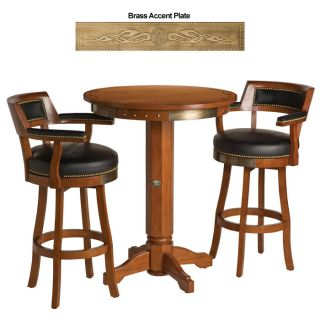 Harley Davidson ® Bar Shield Flames Pub Table Chairs