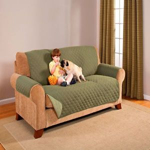 Reversible Green Olive Sage Couch Chair Sofa Furniture Protector Pet Cover