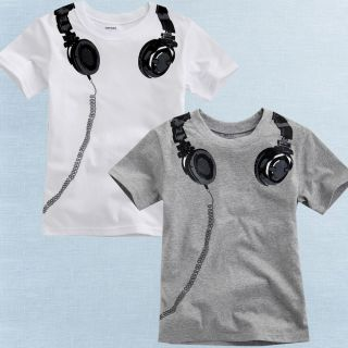 "Vaenait Baby Toddler Kids Boy Unisex Round Neck Top T Shirts "" Headphones """