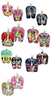 Disney Kids Licensed Thong Flip Flops Beach Sandals Boys Girls 2 Pair