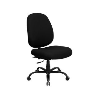 Hercules 500 lb Capacity Big and Tall Black Fabric Office Chair with Extra Wide