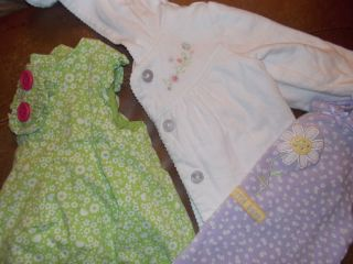 3 Piece Baby Girl 6 9 Month Clothes 2 Dresses and A Jacket