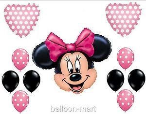 Disney Minnie Mouse Polka Dot Balloons Pink Baby Shower Birthday Party Supplies