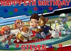 Paw Patrol 2 Cake Topper Decoration Image Birthday Party