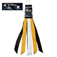 "Big 57"" Long Windsock Banner Flag Pittsburgh Steelers NFL Football"