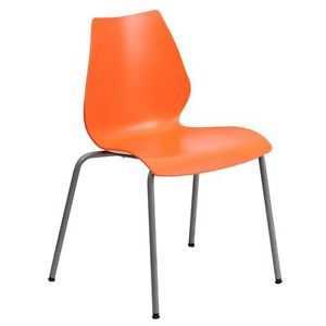 Heavy Duty Ergonomic Stacking Chair School Office Desk Stack Waiting Room Orange