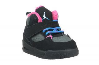 Jordan Flight 45 Trek TD Baby Toddler Boots Black Blue Grey Pink 467931 008