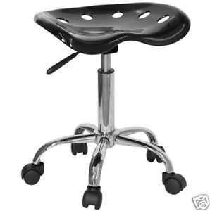New Ergonomic Black Tractor Seat with Chrome Stool