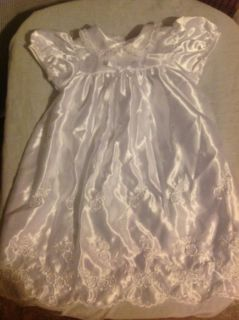 Baby's White Christening Baptism Dress 6 9 M Dedication Gown for Boy or Girl