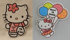 Unique Personalized Hello Kitty Birthday Party Baby Shower Party Favor Gift Tags
