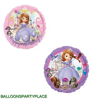 2 Pack Balloons Sofia The First Disney Princess Party Supplies Girls Birthday