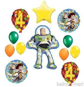 4th Birthday Buzz Lightyear Balloons Party Supplies Disney Toy Story Fourth Four