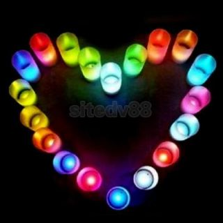 10pcs Battery Operated Mini LED Tea Light Candle Color