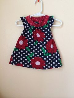 Size 0 3 Months M Red Blue Navy Flower Dress Bloomers