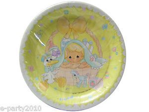 8 Precious Moments Boy or Girl Baby Shower Large Plates Party Supplies