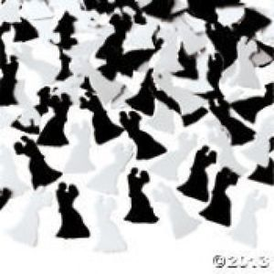 Wedding Party Bride Groom Shaped Confetti Decoration Table Decor